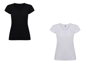 Mujer V X Camisetas Lycra Para Cuello Combo Blanco Negro 2 wO8nkX0P