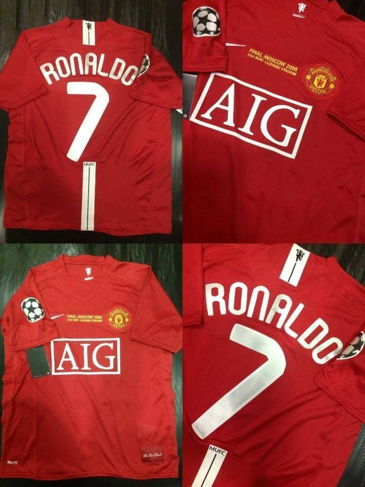camisetas manchester united final ucl moscu 2008 ronaldo. Cargando zoom. e303ed9b22619