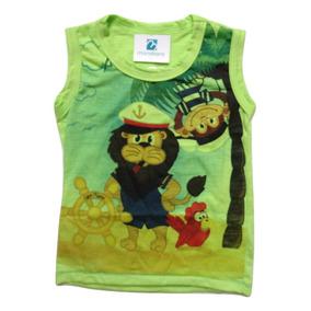 f2a7321c309b4 Camiseta Regata Menino Enxoval Bebe Infantil Verão 2017