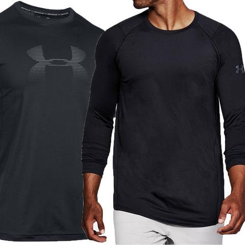 d8147704087 kit 2 camisetas under armour manga curta e longa promoção! Carregando zoom.