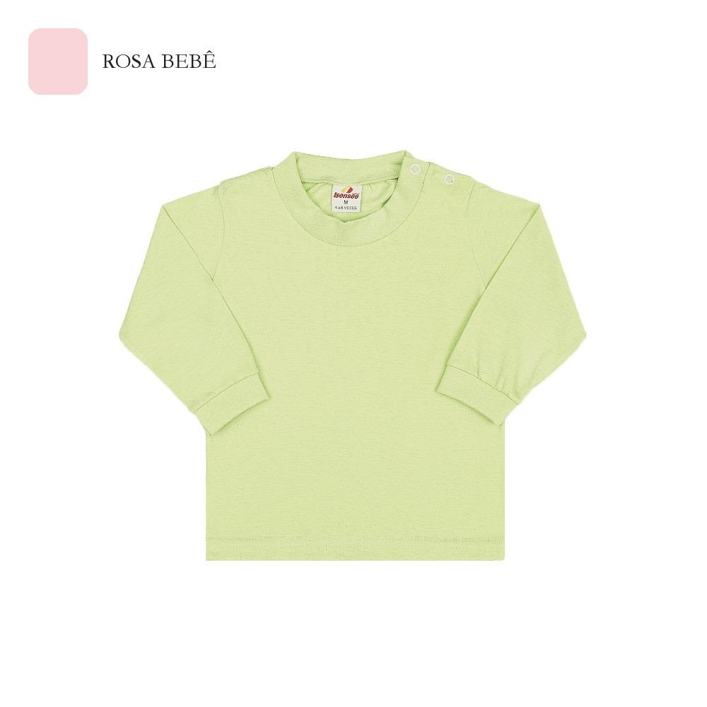 Kit 3 Camisetas Manga Longa De Bebê Unissex Com Botão P-m-g - R  58 ... 6e27d55923a