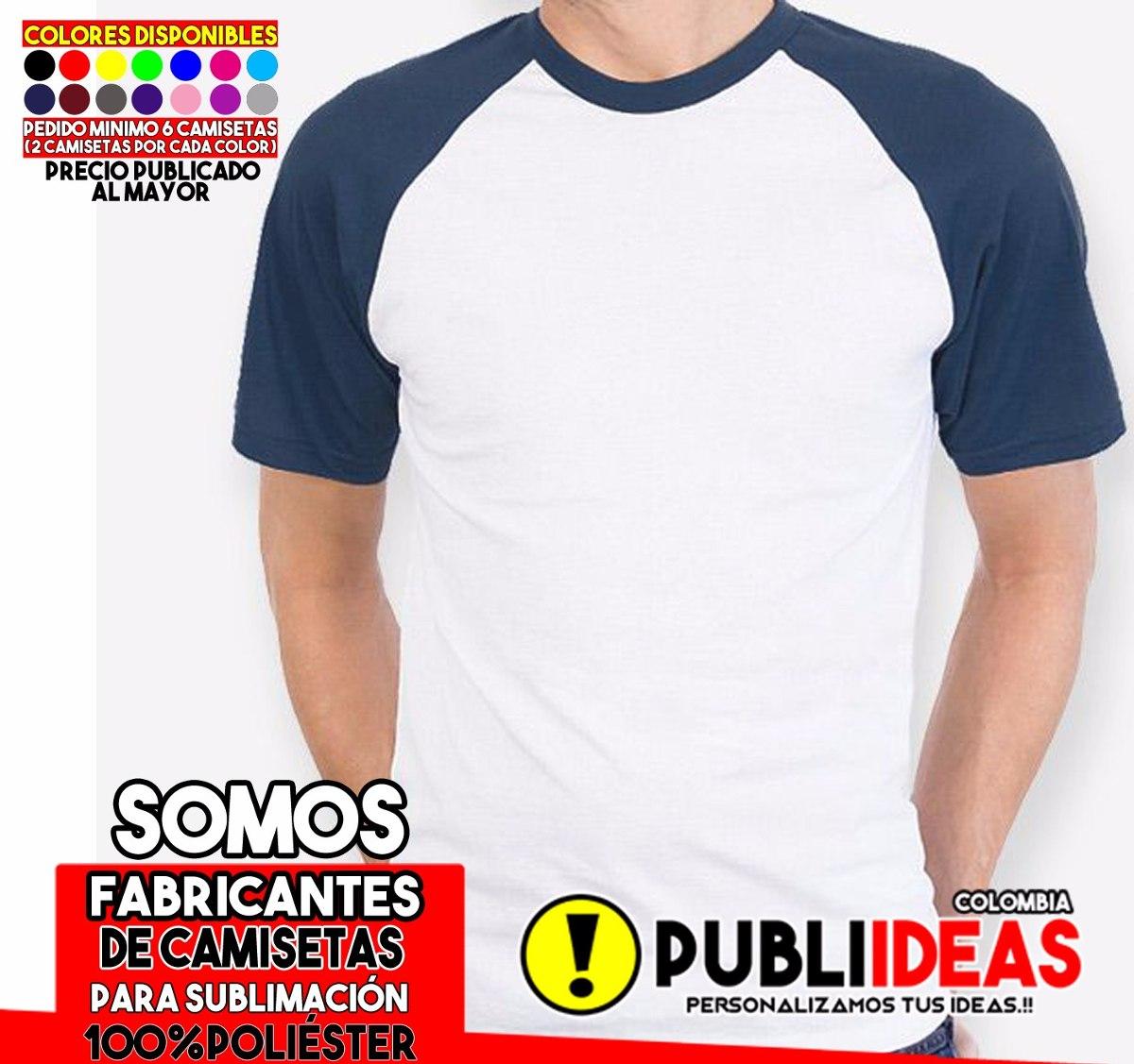 8140c64f1e Camisetas Manga Ranglan De Sublimacion 100%poliester -   11.000 en ...
