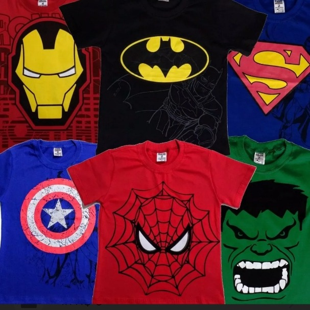 Camisetas Marvel Personagens Modelo Infantil - R  15 ebda2c6df9143