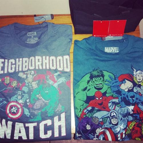 camisetas marvel' the avengers, civil war & ninja turtles!!