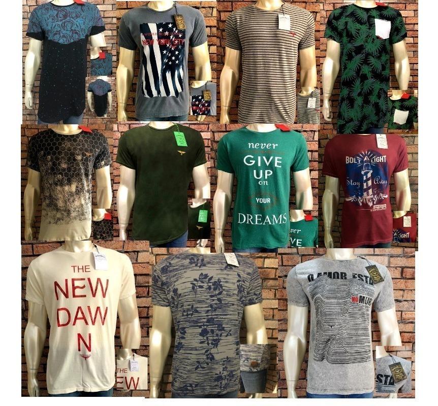 cde4260c13ad9 camisetas masculinas kit 10 camisa marcas variadas premium. Carregando zoom.