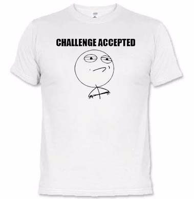 camisetas memes challenge accepted