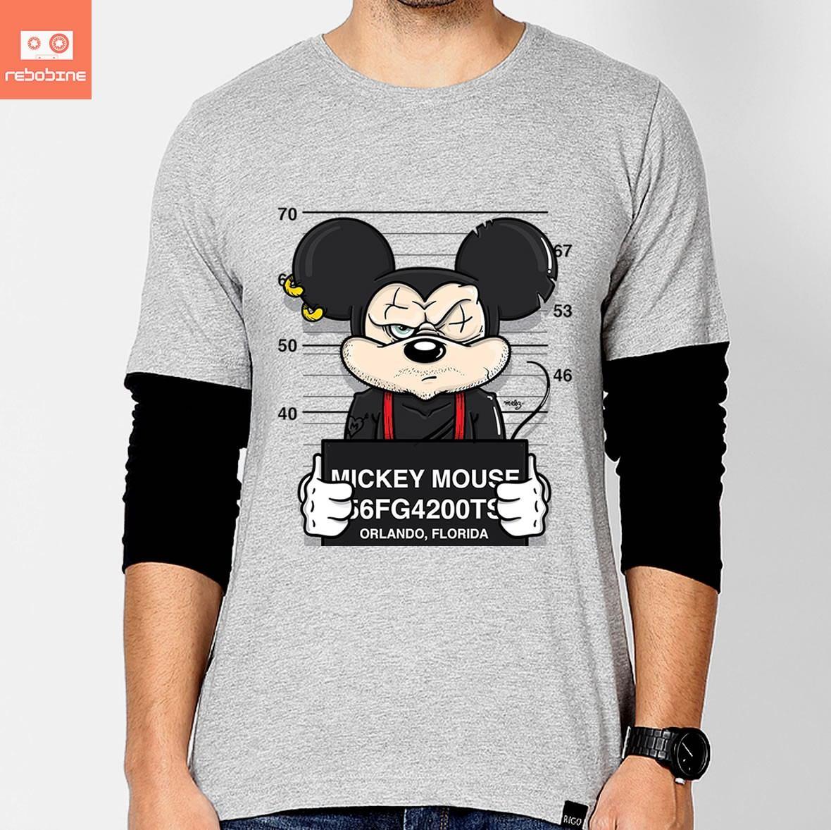 Camisetas Mickey Disney Bad Desenhos Animados Cinema Camisa - R  49 ... 41975d93c763d