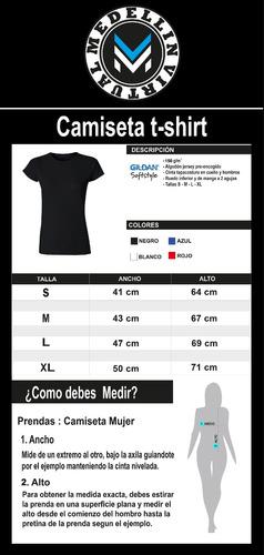 camisetas mujer algodón peinado suavizado 6 colores gildan