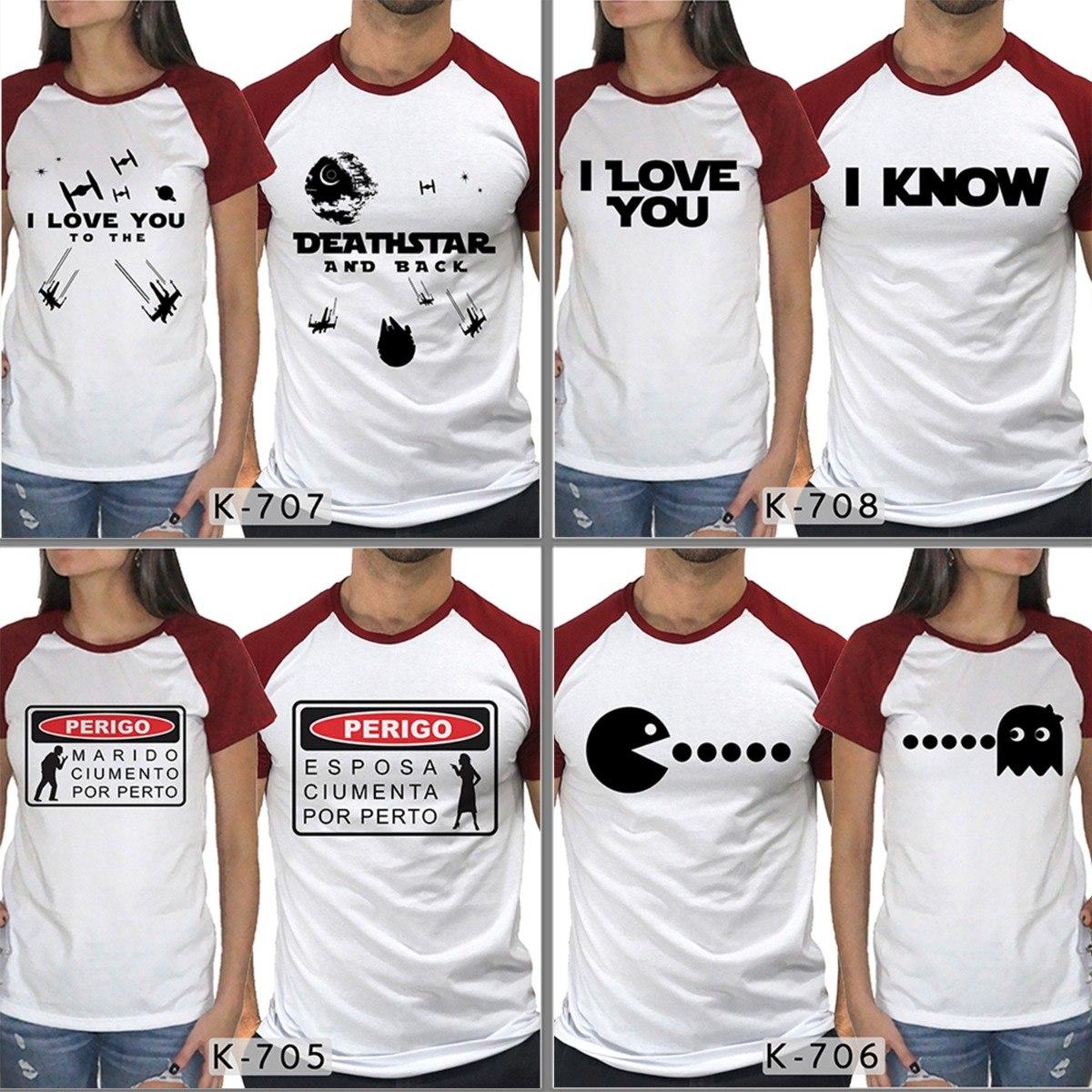 camisetas namorados kit c  2 star wars casal personalizadas. Carregando zoom . a66b6393c17