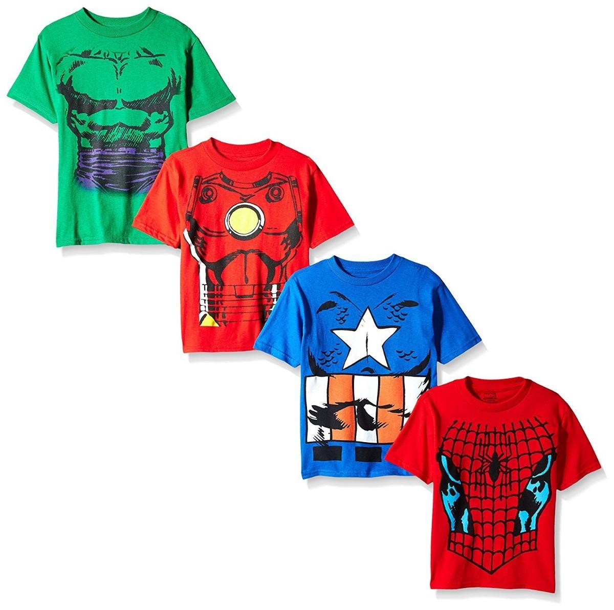 26a796888 camisetas niño 4 spiderman capitan america hulk marvel. Cargando zoom.