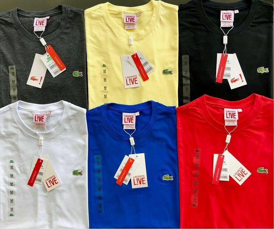 6d80e24ac3fe1 camisetas originais bordado lacoste e modelo frança 20un. Carregando zoom.