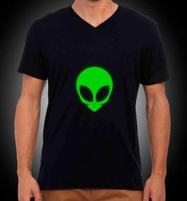 Brilla Alíen Hombre En Oscuridad Para Halloween Camisetas xeWCQrodB