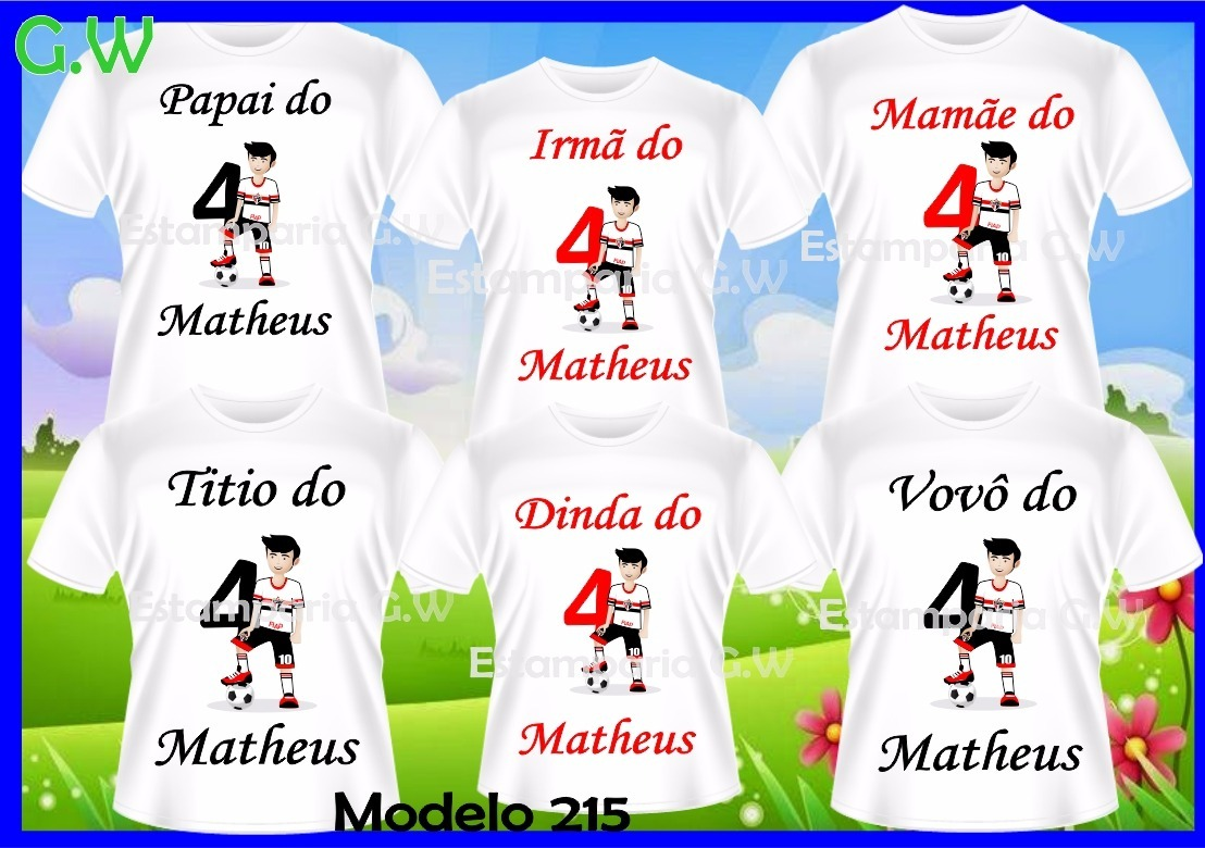 c9b67b5e43ec3 camisetas personalizada time futebol são paulo c 6. Carregando zoom.