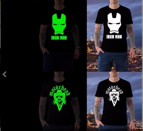 camisetas personalizadas con vinil foto luminiscente