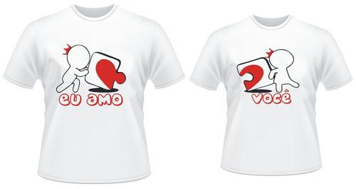 camisetas personalizadas dia dos namorados - qualquer tema