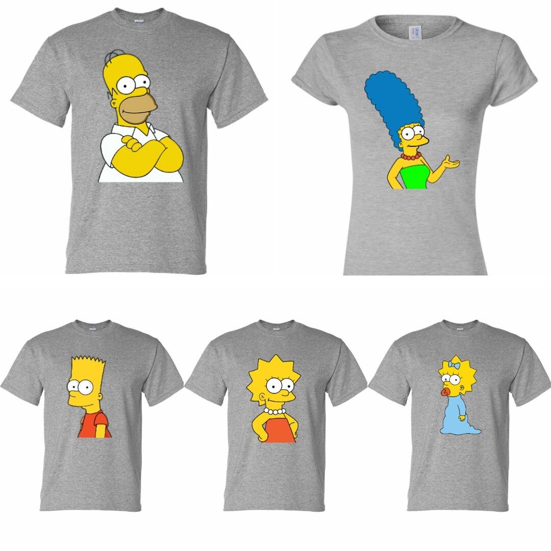 camisetas personalizadas diseño familia simpsons x4 unidades. Cargando zoom. 9031f582835af