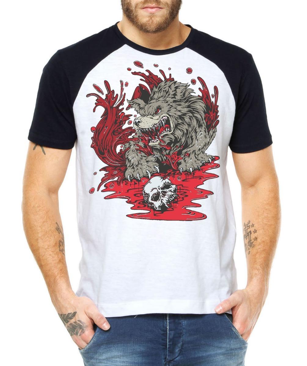 48b543794144d camisetas personalizadas lobo hardcore blusas alternativas. Carregando zoom.