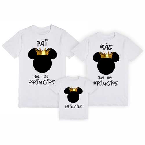 camisetas personalizadas mae filho pai mickey princip mt0050