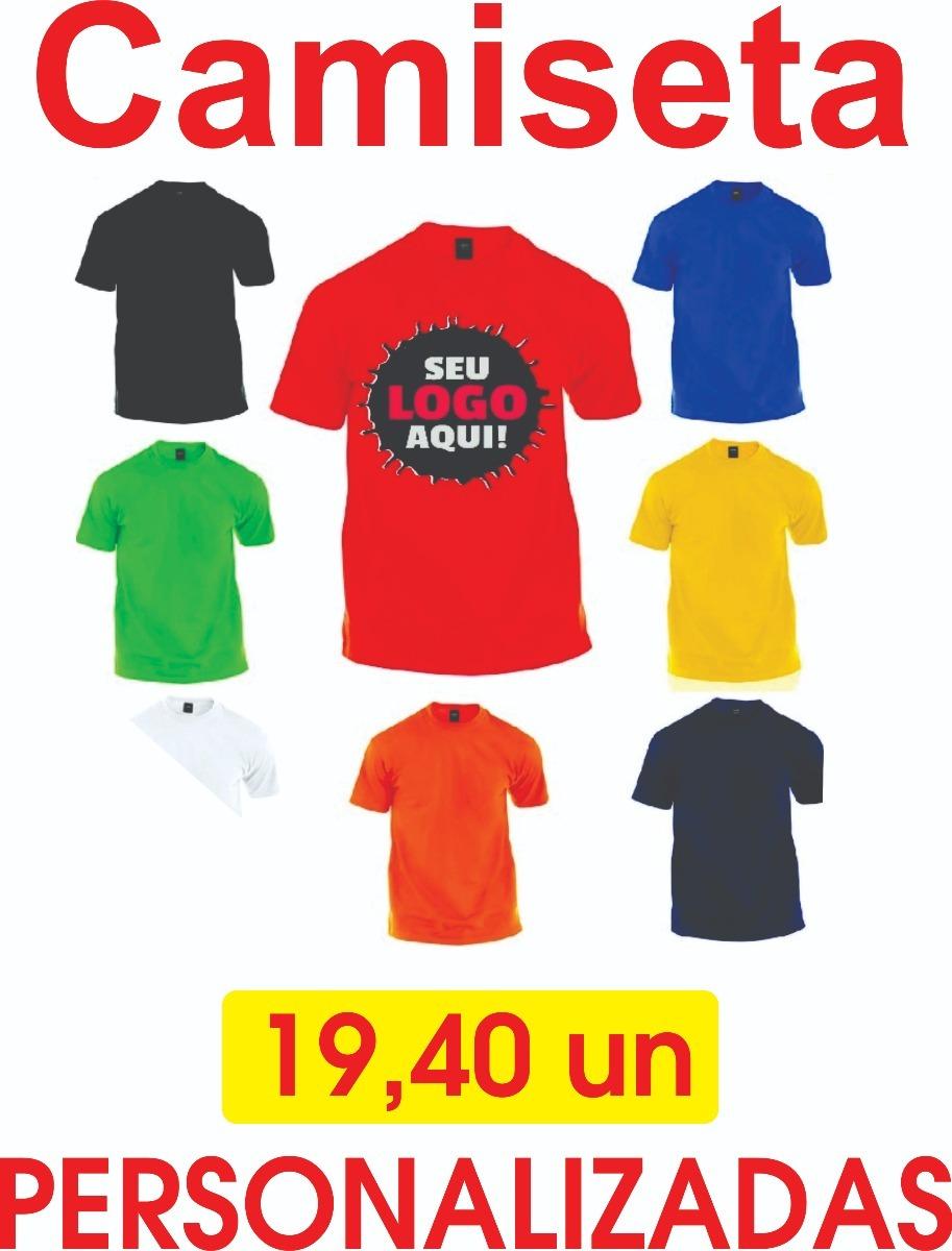 265e72b17 Camisetas Personalizadas P Ao Gg Todas As Cores Minimo 20 Un - R  19 ...
