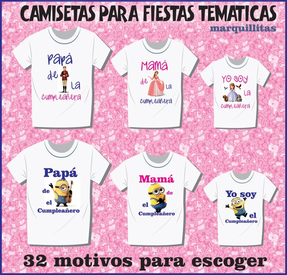 281a882adc0d3 camisetas personalizadas para fiestas temáticas infantiles. Cargando zoom.