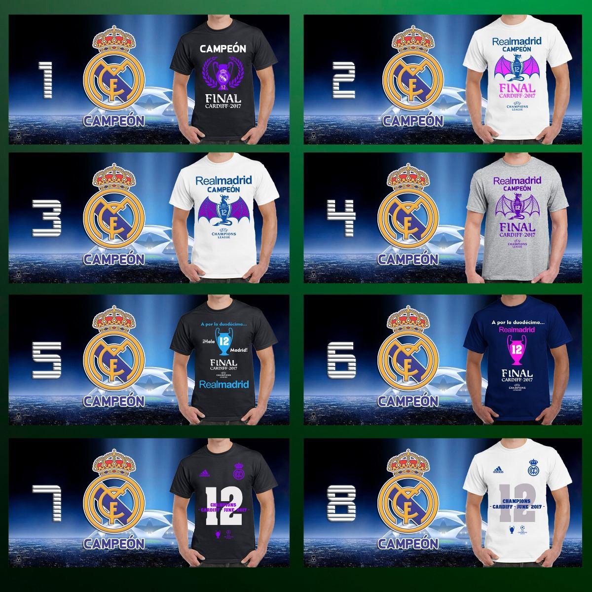 camisetas playeras real madrid campeón champions league 2017. Cargando zoom. fc2352f309dd3