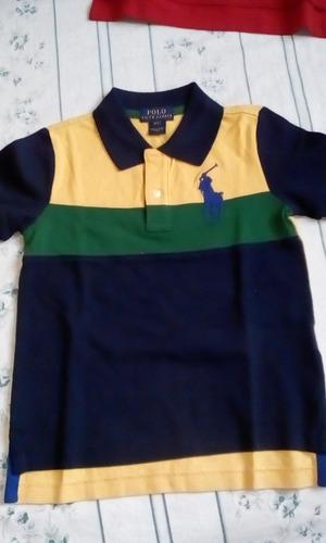 camisetas polo de niño talla 2 y 3 t