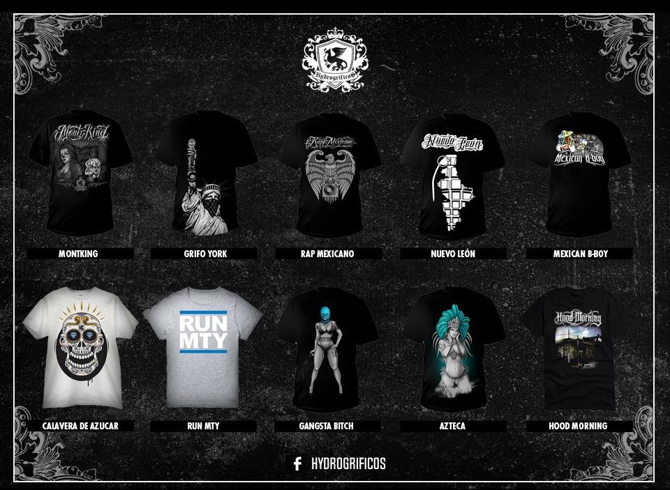 Camisetas Raperas Mexicanas -   250.00 en Mercado Libre e5e1359444f