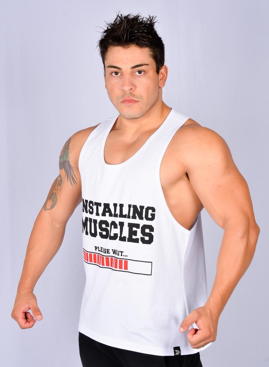 571a0fbd5 camisetas regatas bodybuilding masculina academia e treino. Carregando zoom.