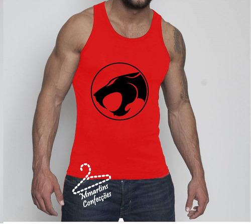camisetas regatas masculina thunder cats   machão em dry fit