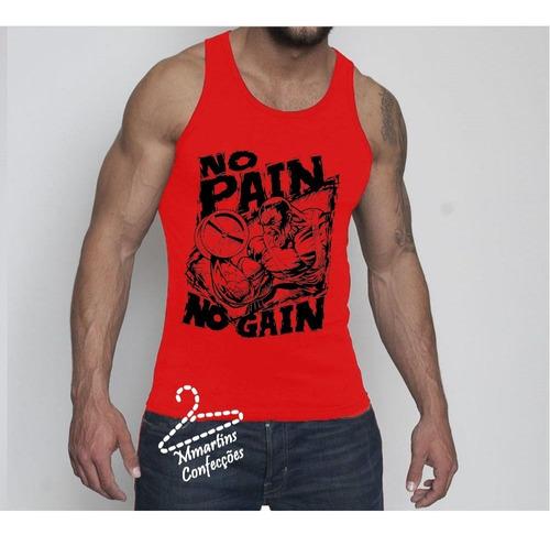 camisetas regatas no pain no gain  academia  machão dry fit
