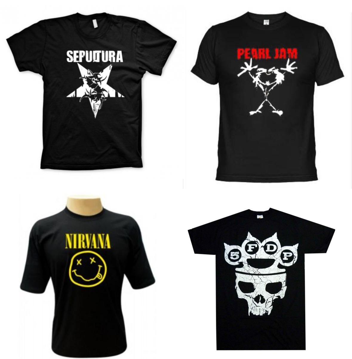 Camisetas Rock - Camisas Nirvana 4efb0eab8a1