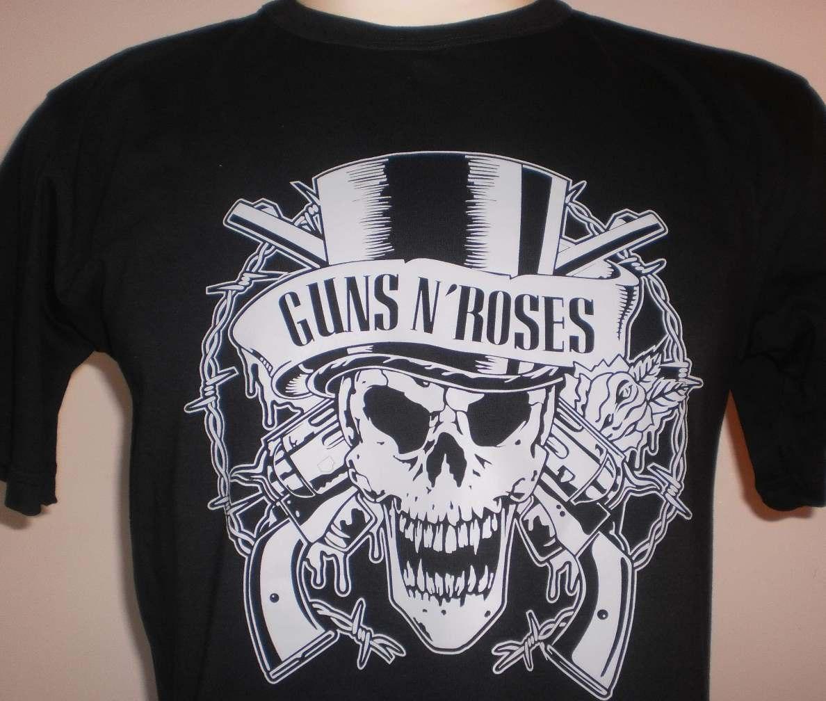 7f3e0719f4e92 Camisetas Rock Guns N'roses - Frete Grátis - Algodão Fio 30 - R  68 ...