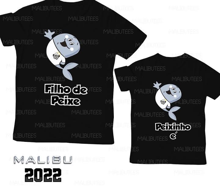 30c5384791 Camisetas Santos Pai E Filho Filho De Peixe Peixinho É 2022 - R  79 ...