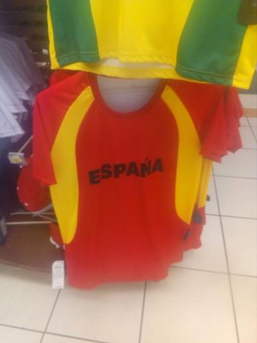 camisetas seleccion. brasil, alemania, argentina,españa