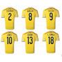 Camiseta Colombia Original 2014 Con Numero De Jugadores