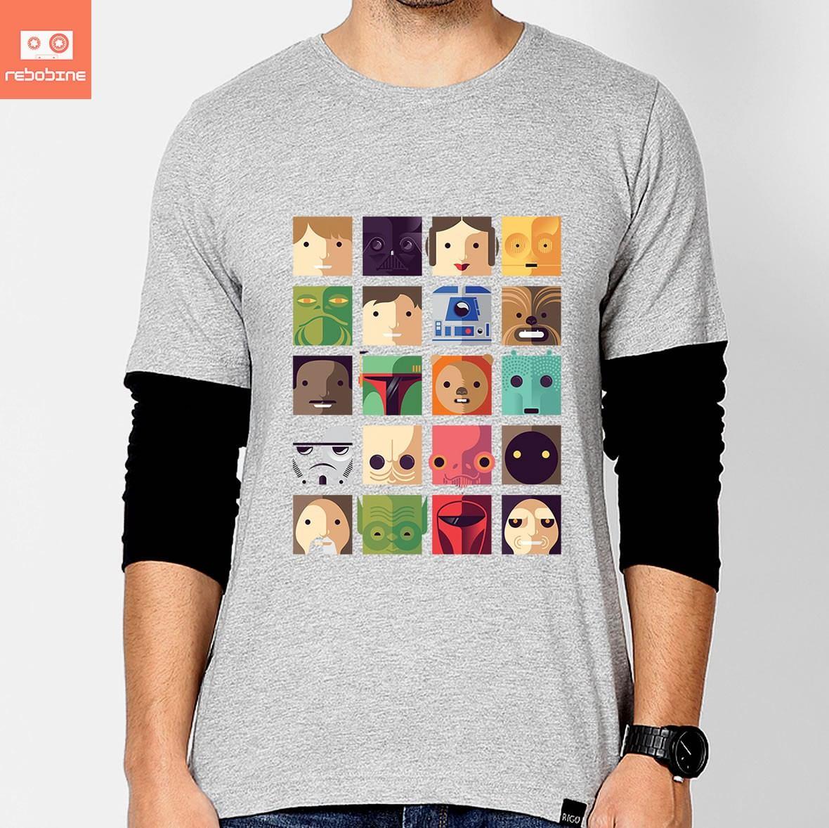 d3249359c camisetas star wars icones guerra nas estrelas personagens. Carregando zoom.