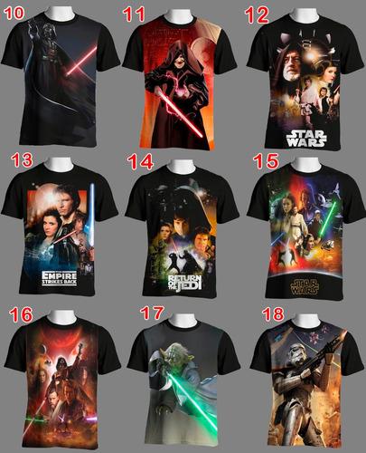 camisetas star wars  unissex