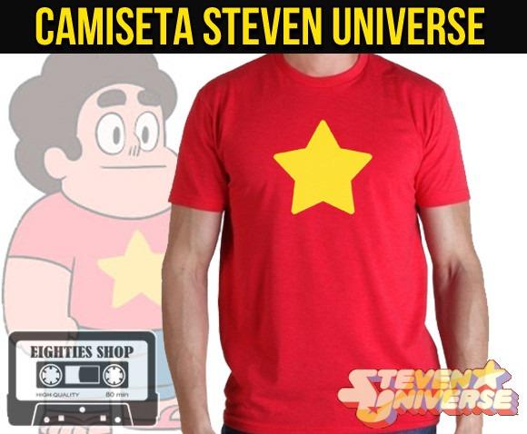 Camisetas Steven Universo Desenho Cartoon Adulto Infantil