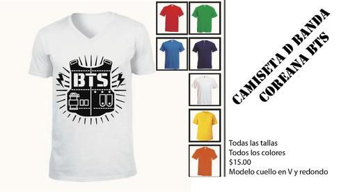 camisetas sublimadas de bandas kpop coreana