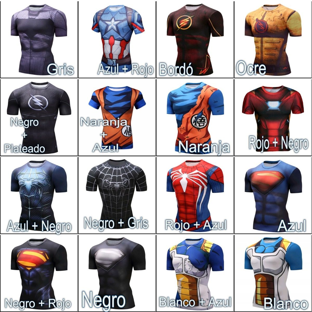 camisetas superheroes crossfit superman flash ironman vegeta. Cargando zoom. 7818831776962