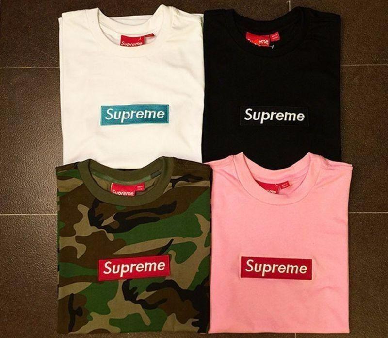 precio favorable Venta de descuento 2019 100% autentico Camisetas Supreme Box Logo