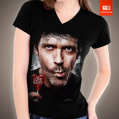 camisetas tv e seriados - doctor house dr. house