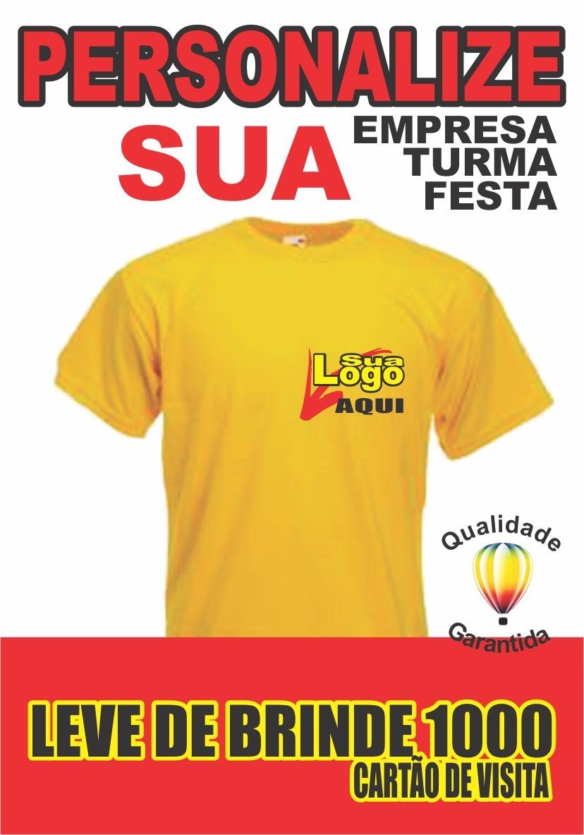 Camisetas Uniforme De Sua Empresa Com Logo Estampada 04unid. - R ... 502ec6beb4f6a