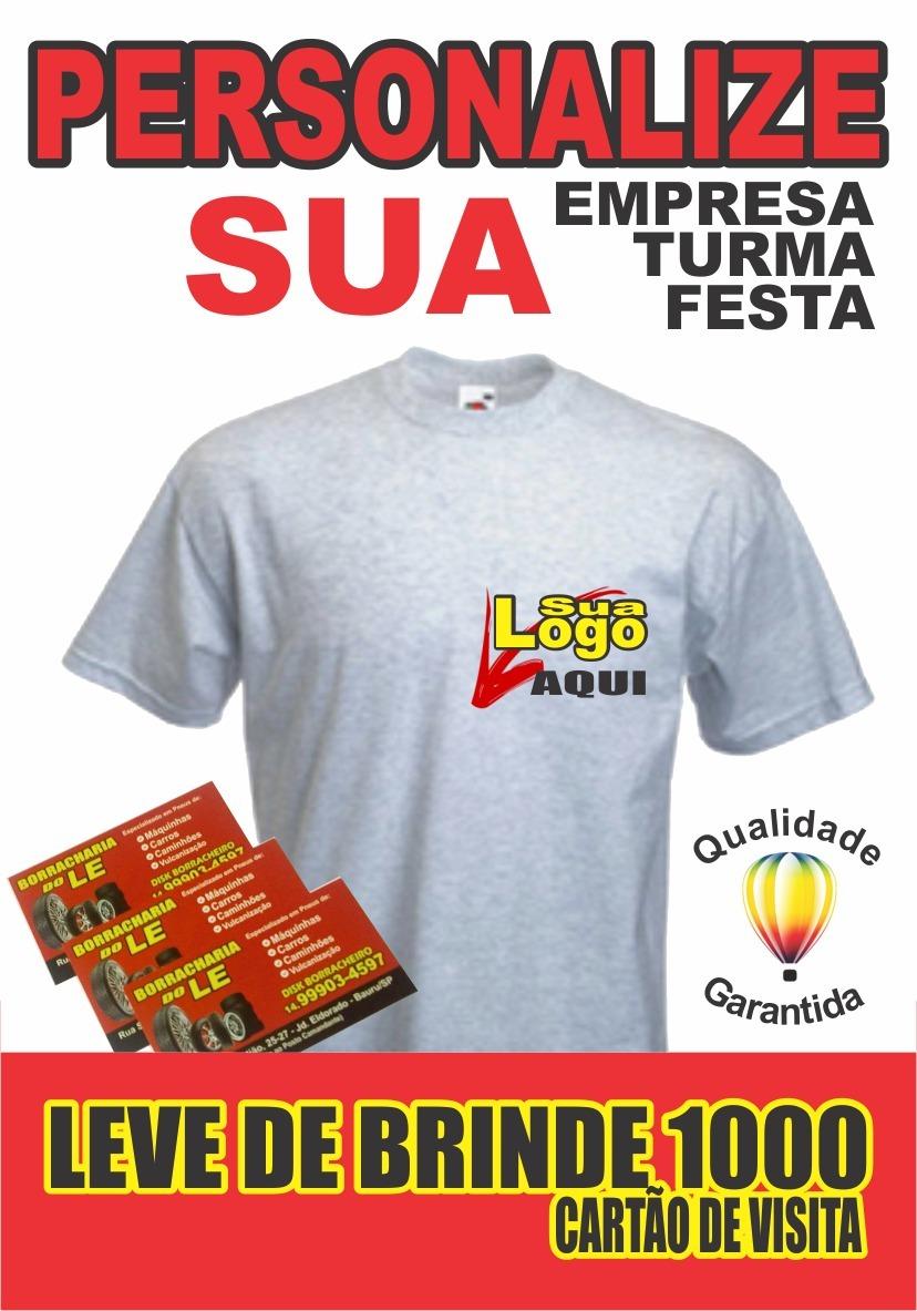 Camisetas Uniforme De Sua Empresa Com Logo Estampada 10unid. - R ... 0a2da2d076ef9