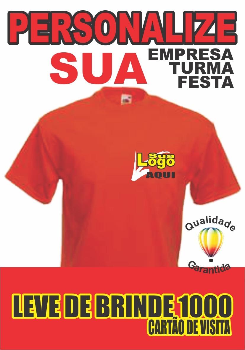 Camisetas Uniforme De Sua Empresa Com Logo Estampada 50unid. - R ... 3e118c3609eb0