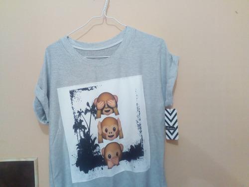 camisetas unisex talla unica small emojic
