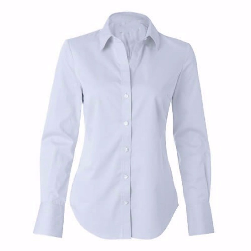 Camisete Camisa Branca Social Feminina Manga Longa - R  34,90 em ... 32b3aa6caf