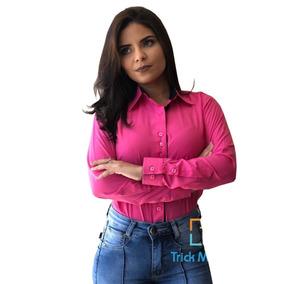 12067ffbcb56c Camisa Branca Feminina - Calçados, Roupas e Bolsas com o Melhores Preços no  Mercado Livre Brasil