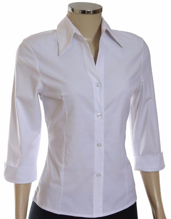 521c4b424 Camisete Camisa Social Feminina Manga 3 4 - R  34