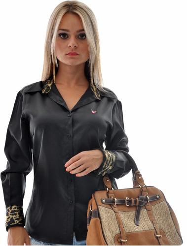 camisete feminina cetim com elastano perla plus size camisa